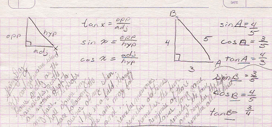 Bad poetry written alongside geometry notes.